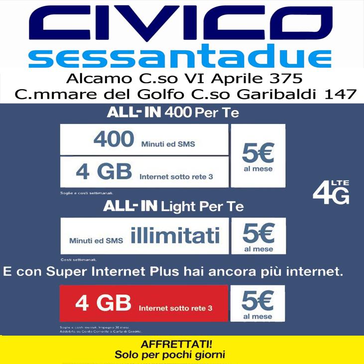 Civico 62 popup