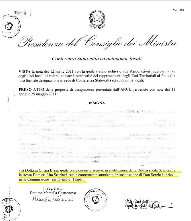 Verbali commissione riconoscimento protezione internazionale 1