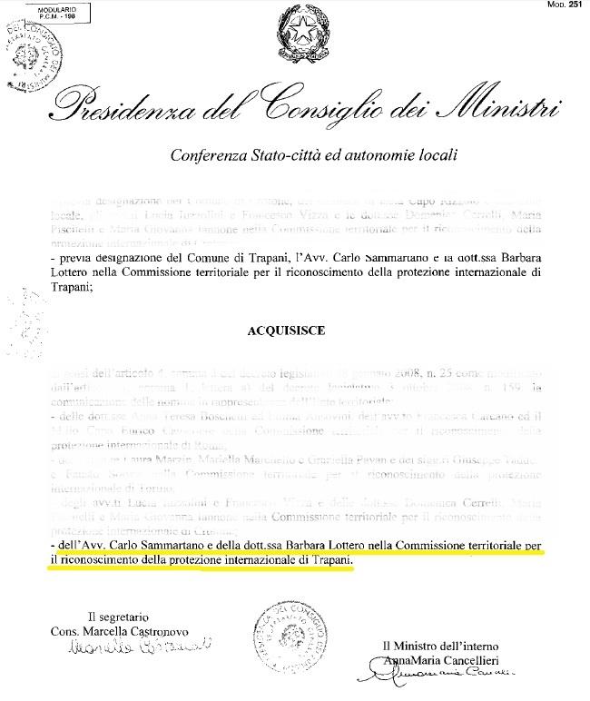 Verbali commissione riconoscimento protezione internazionale 3