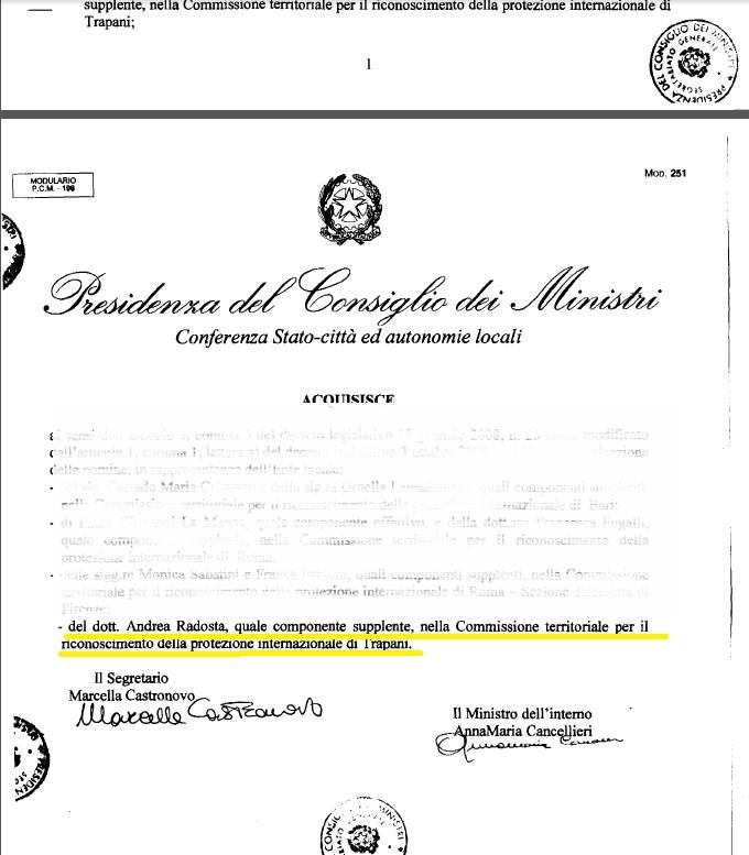 Verbali commissione riconoscimento protezione internazionale4