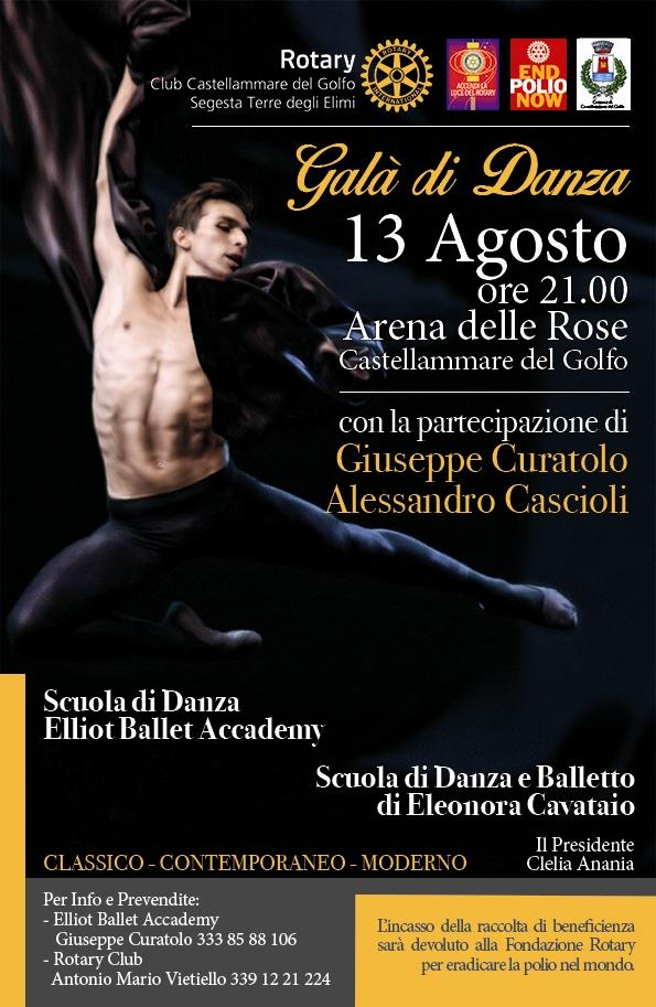 locandina 13 agosto - gran gala di danza