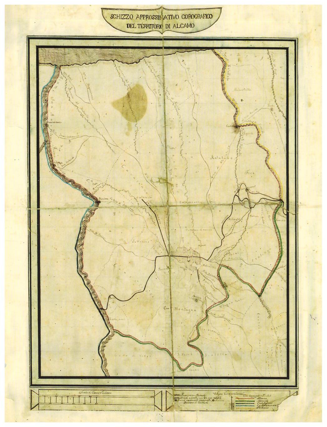 una delle mappe del mortillaro