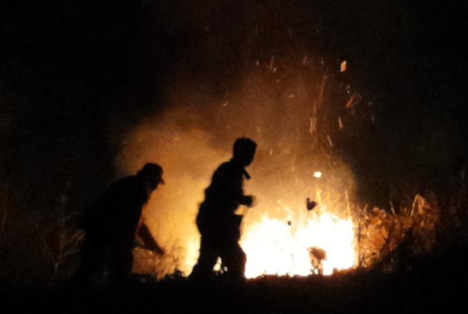 Incendio Alcamo Marina Contrada Magazzinazzi
