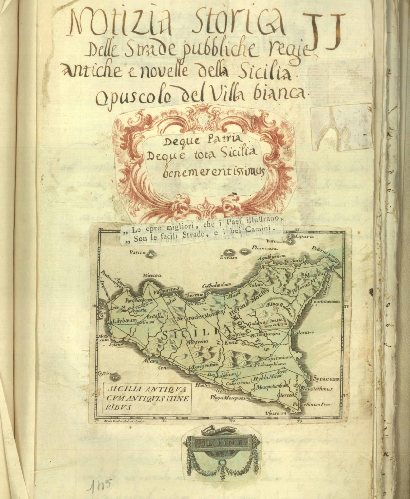 Manoscritto di Francesco Maria Emanuele Gaetani – Diari Palermitani 1788, custodito presso la Biblioteca Comunale di Palermo – Casa Professa Collocazione Qqe97