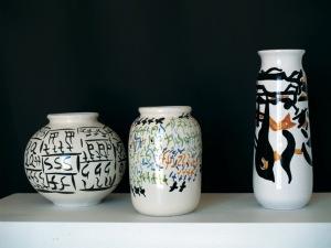 CARLA ACCARDI,Vasi in ceramica invetriata, 1994