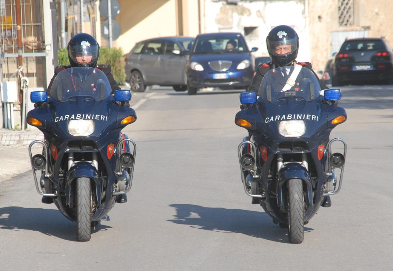 Carabinieri moto trapani