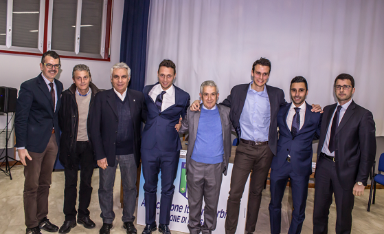 Da sn Toti Ernandez, Armando Salvaggio, Pippo Raciti, Roberto Abisso, Biagio Girlando, Riccardo Ros,  Francesco Saia e Michele Cavaretta