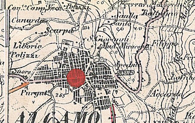 Carta IGM 1852 trazzere