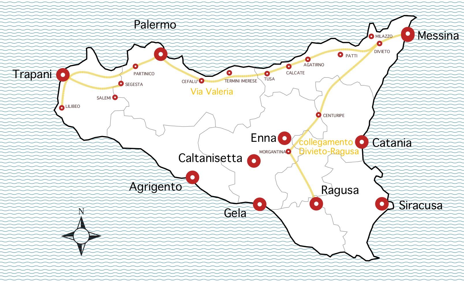Mappa Sicilia Trazzere Vera Messana