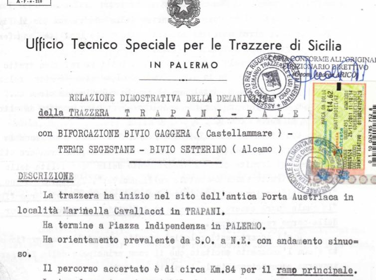 Relazione Trazzere Trapani Palermo