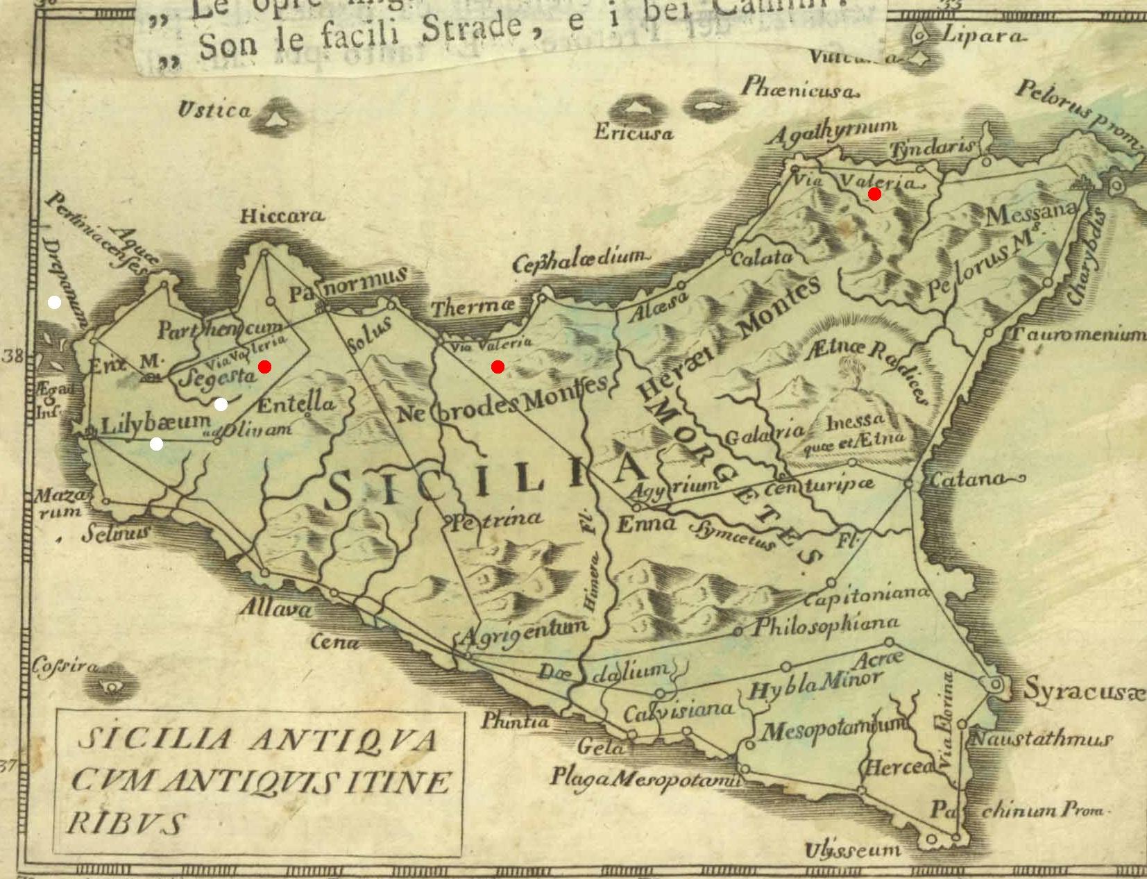 Cartina Trapani Sicilia