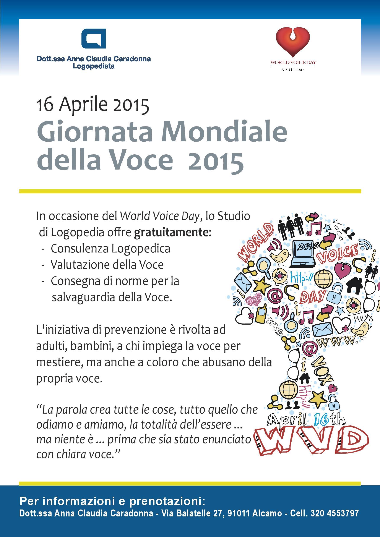 giornata mondiale della voce