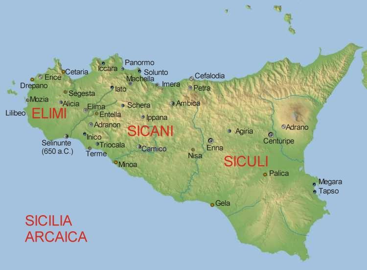 Cartina Sicilia Selinunte.La Favola Delle Regie Trazzere Di Sicilia Capitolo Primo Parte I La Sicilia Primitiva Ed Antica Alqamah