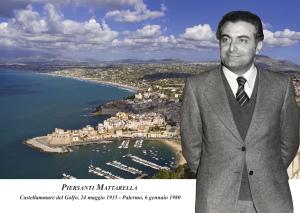Cartolina annullo filatelico Piersanti Mattarella Castellammare del Golfo