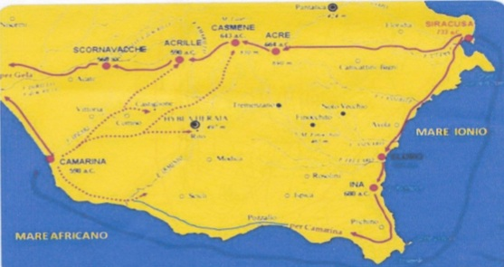 Mappa Siracusa Gela
