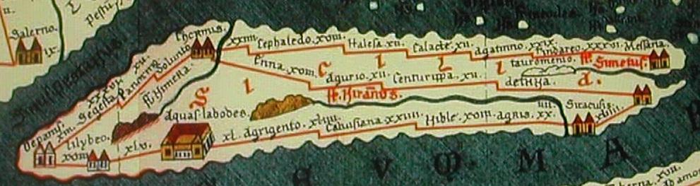peutingeriana Sicilia Strade Trazzere Romane