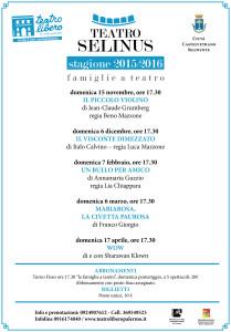 Selinus locandine stagione 2015-2016-2
