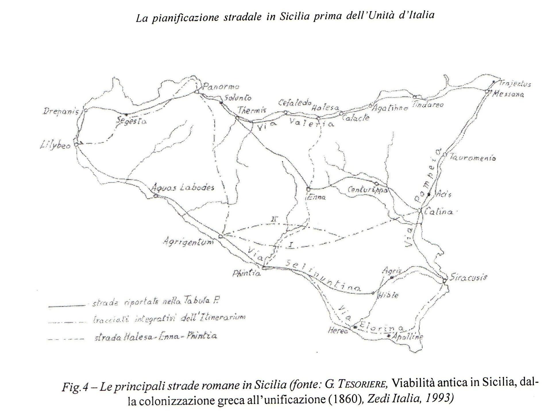 Tesoriere Mappa strade romane