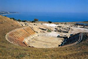 Eraclea Minoa teatro_precedente struttura protettiva