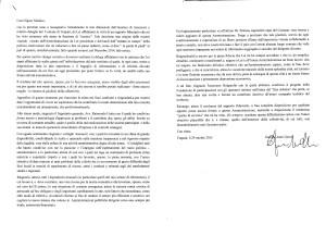 Lettera dimissioni Assessore Garsia