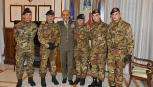 Capo di Stato Maggiore dell'Esercito Generale Danilo Errico con i Berssaglieri del Sesto