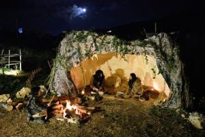 la grotta e l'uomo