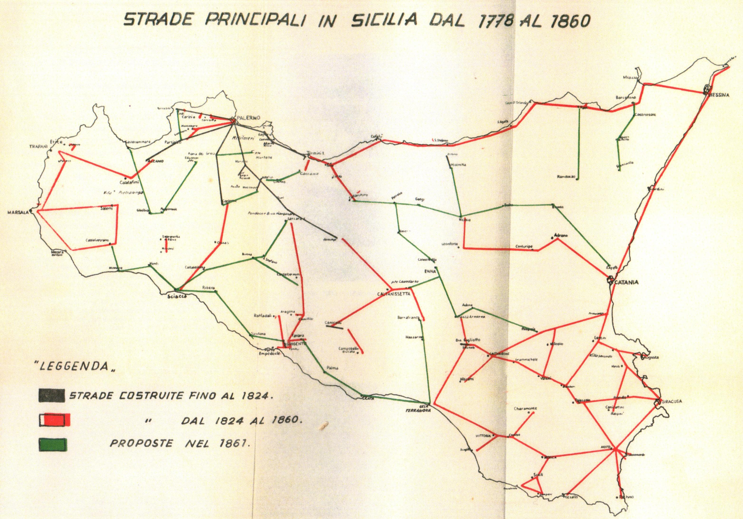 strade sicilia 1778 trazzere