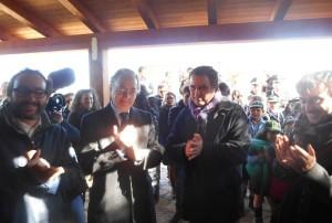 Un momento dell'inaugurazione del bene confiscato di Contrada Crociferi