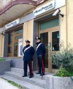 Carabinieri di Salemi Rapina Banca