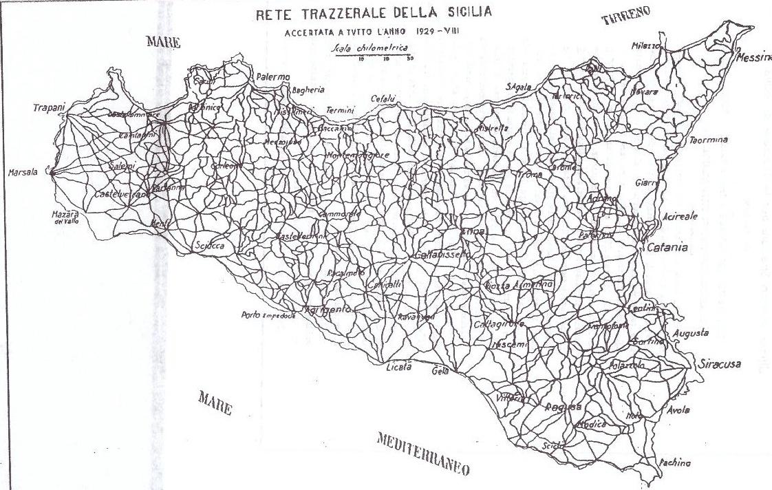 rete trazzere sicilia