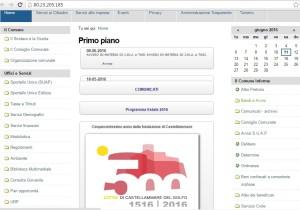 Home page sito Comune