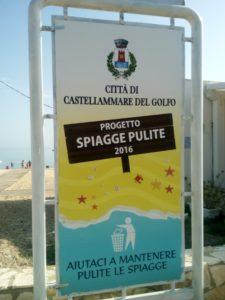Spiagge pulite 2016 cartello