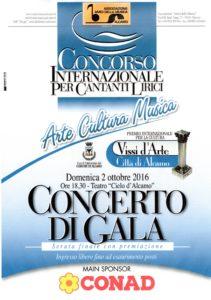 Locandina concerto di gala 2016