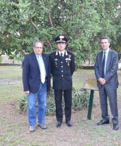 Giardino memoria - Zingales  - Col. Di Stasio - Dott. Frasca
