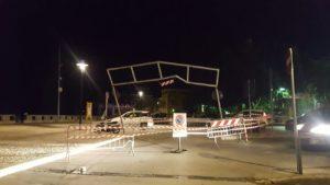 Delimitatore Altezza Piazza Bagolino sera