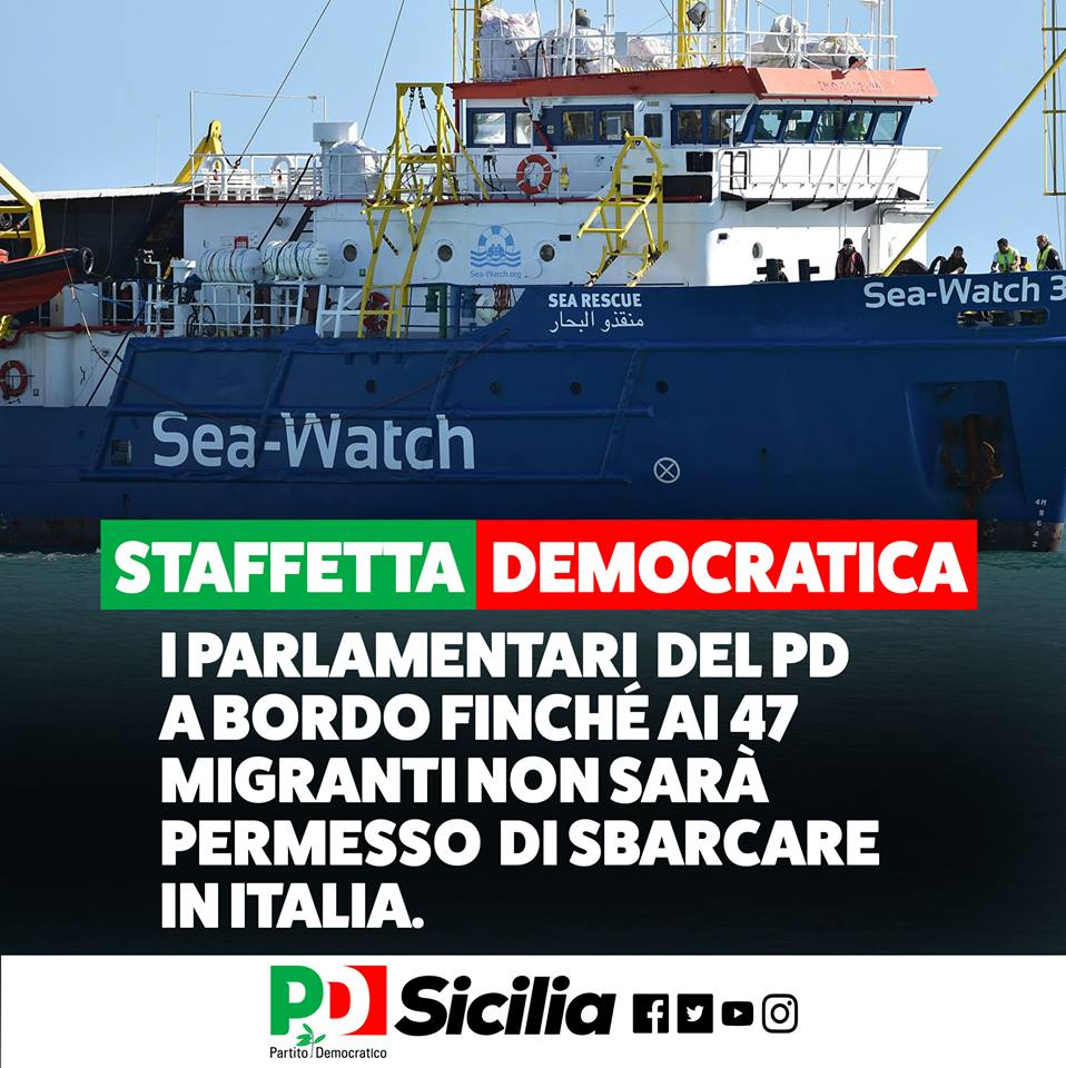 Sea watch a bordo arrivano i deputati pd alqamah for Deputati pd