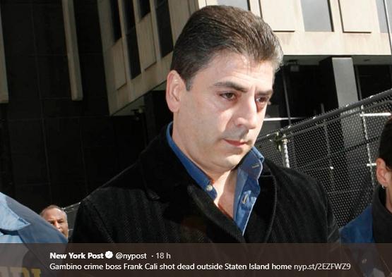 Ucciso a New York il boss della mafia Frank Calì