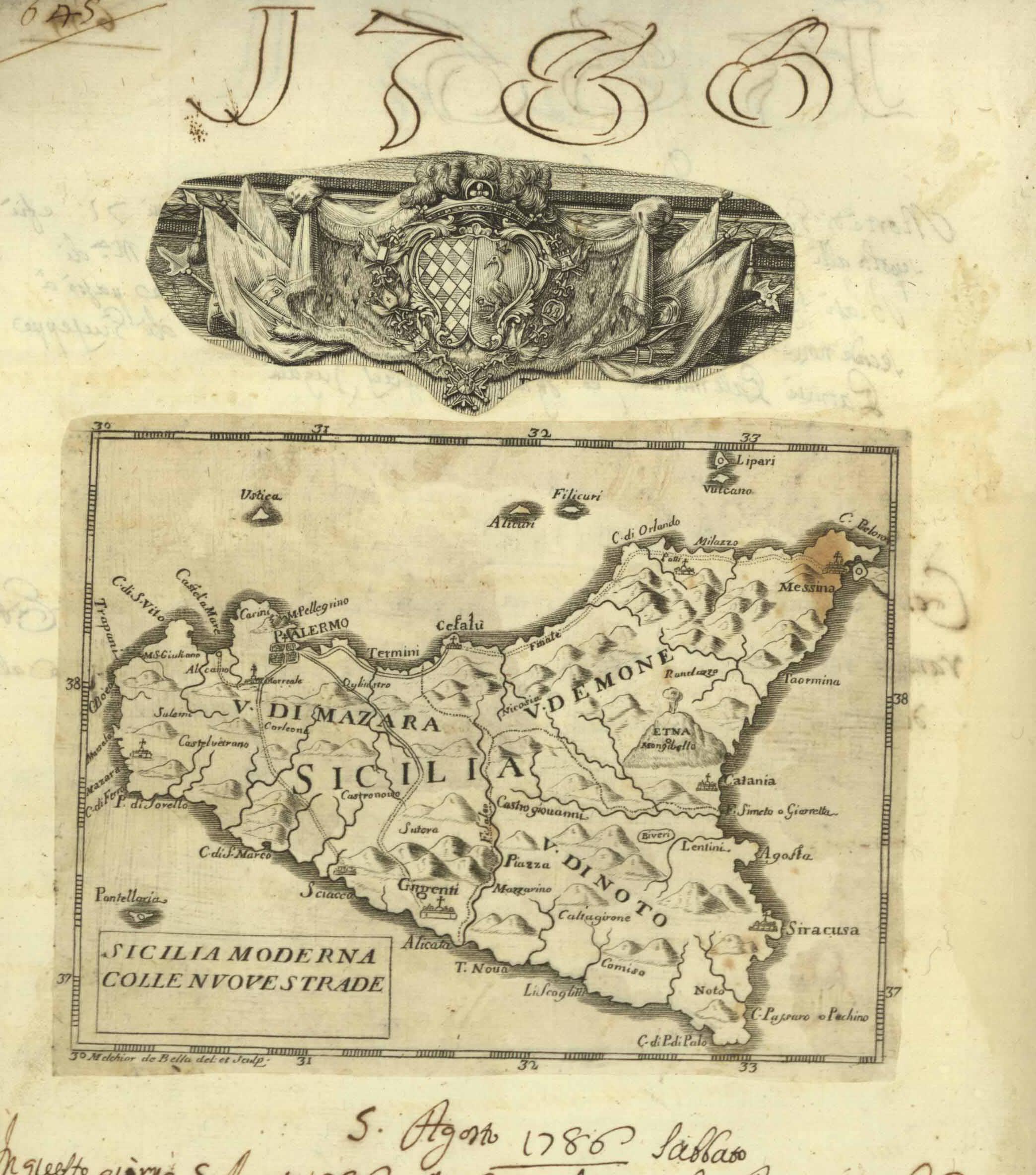 BIBLIOGRAFIA TOPOGRAFICA DELLA COLONIZZAZIONE GRECA ...CON 1 MAPPA DI LENTINI